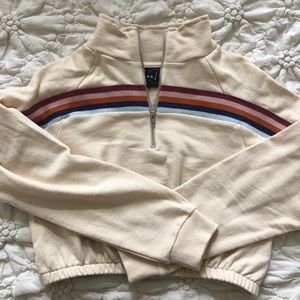 Pacsun Cropped and Striped Sweatshirt